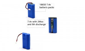 2Sx18650 Battery Supplier 7.4v2200mAh with KC certification