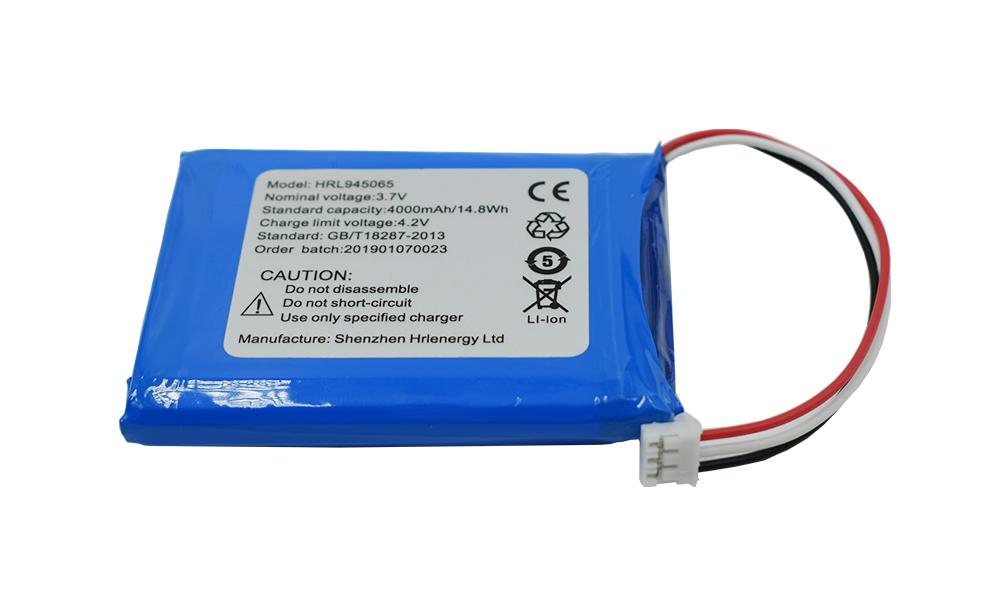 Manufactur standard Cheap 18650 Batteries 2500mah - High capacity rechargeable lithium polymer battery HRL945065 4000mah – Hrlenergy