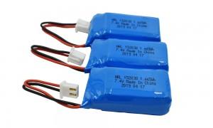 rechargeable lithium-ion batteries HRL752035 450mAh 7.4v