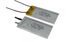 3V LiMnO2 Ultra Thin Credit Card Film Battery cp092142 90mAh Lithium Battery