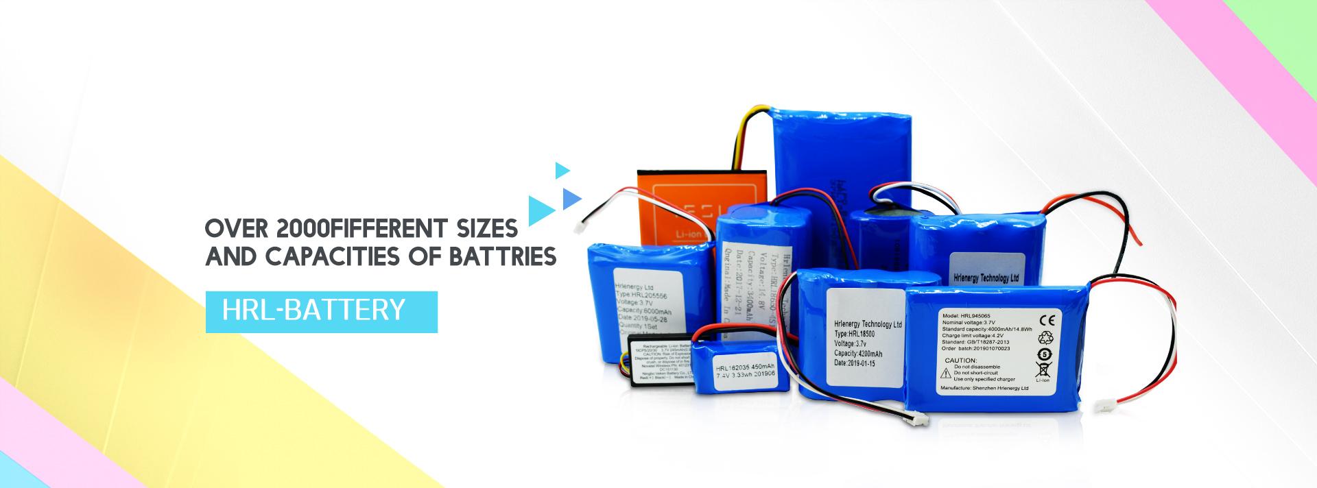 Round Lithium LiPo Batteries 10mah-10000mah